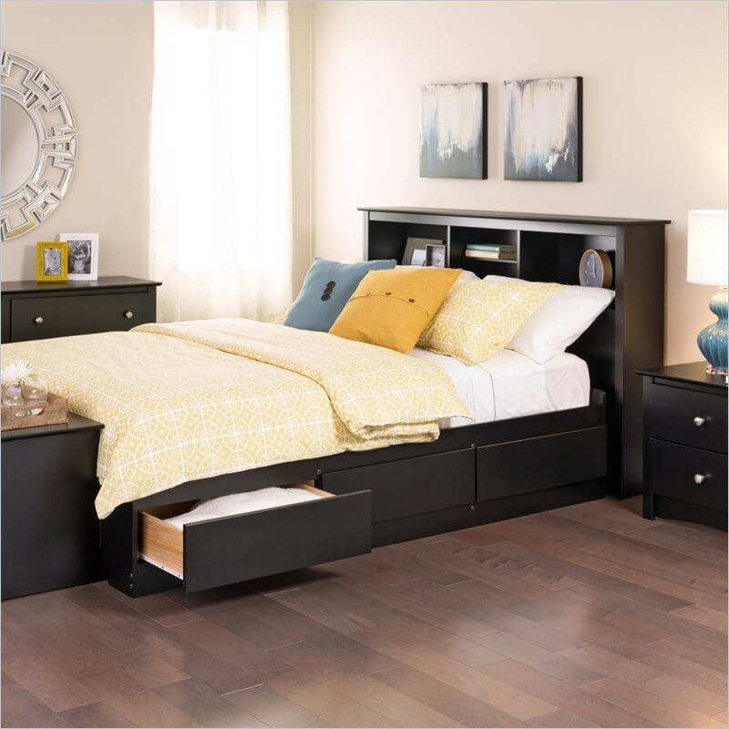 storage beds hold drawers or otherwise concealed storage beneath or surrounding the mattress itself some models even have a hinged frame where the entire