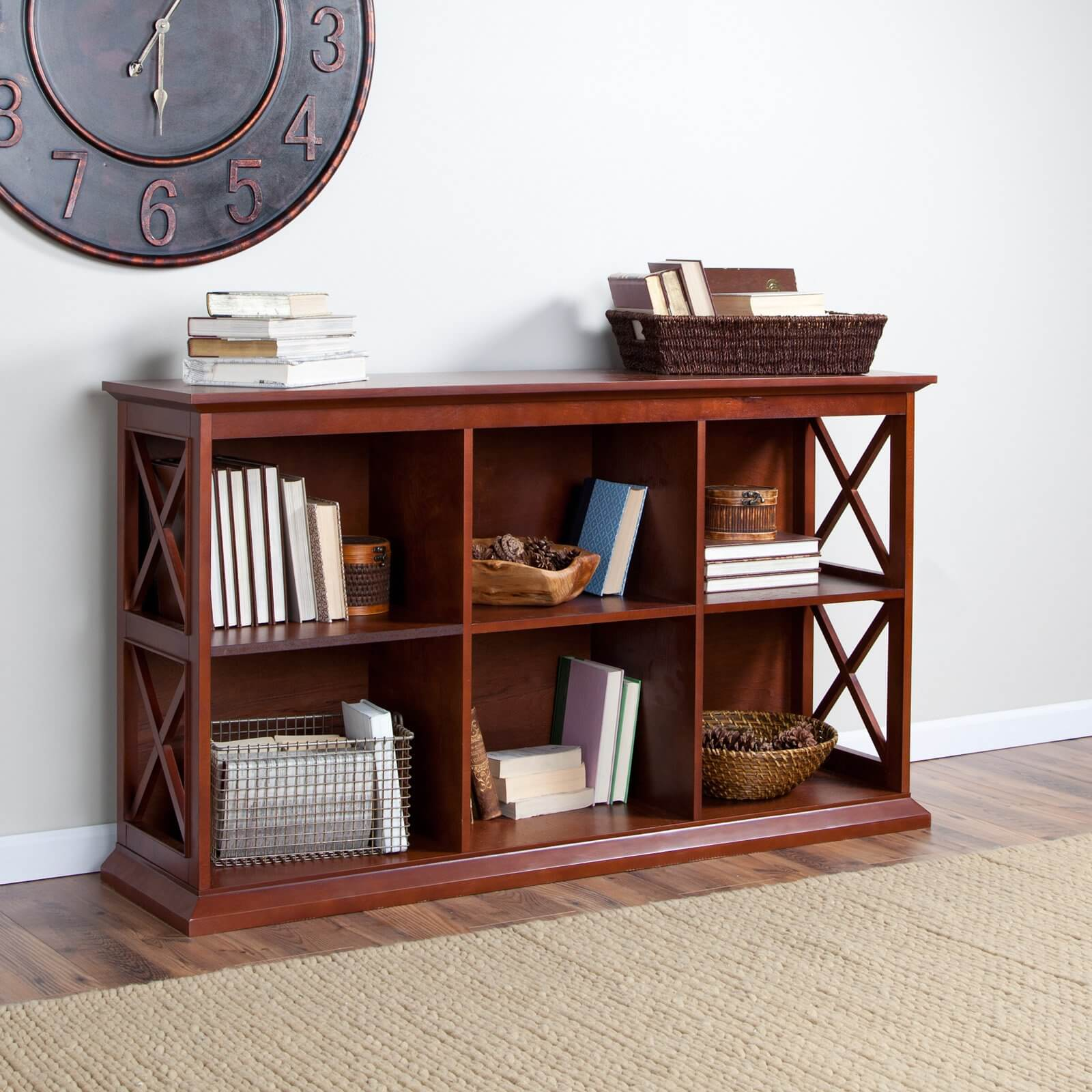 Traditional style evoked a timeless sense through classically proportioned construction, artful detail, and a solid appearance. Most often constructed of wood, traditional bookcases may boast filigreed accents and carved wood detail.