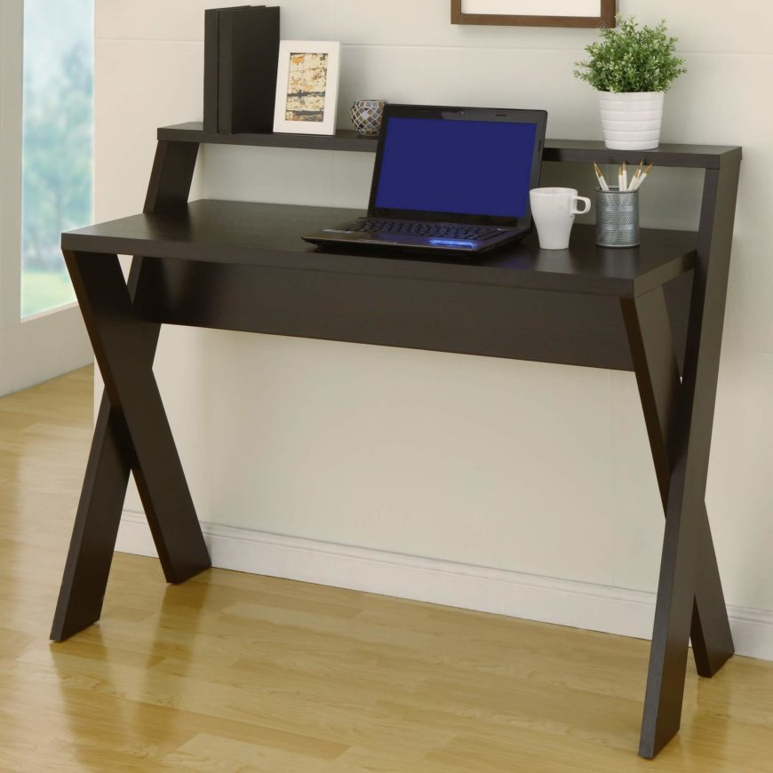 These are minimalist, open desks with minimal storage and a large desktop. Writing desks are perfect for placing along a wall or in the middle of a home office floor. This design is better suited for a laptop than a desktop computer for office work. The direct, conservative styling works elegantly in nearly any space.