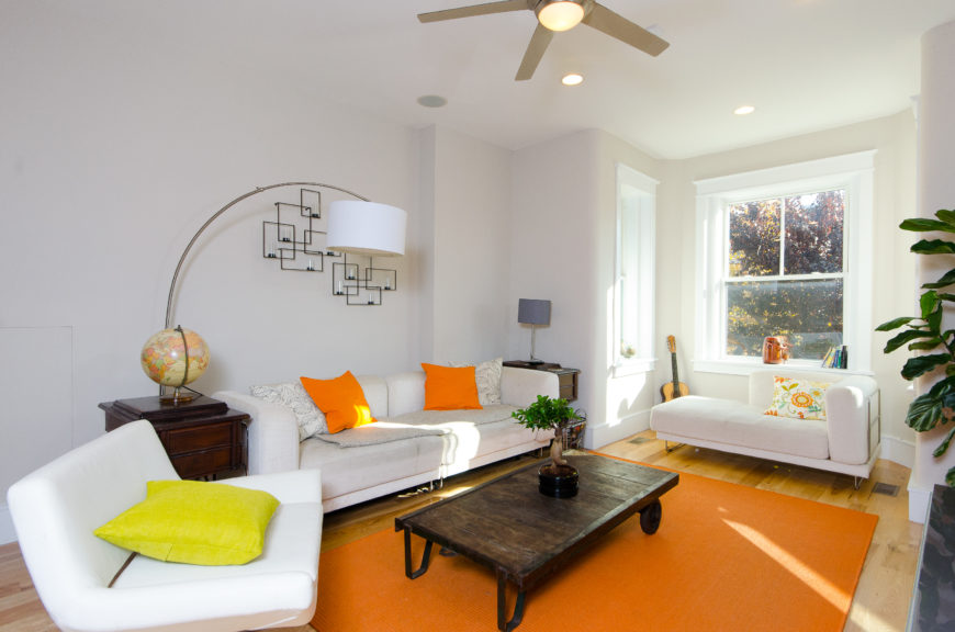 Living Room of bright and airy condo.
