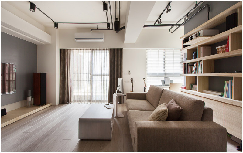 Hu Residence of Hsinchu living room.
