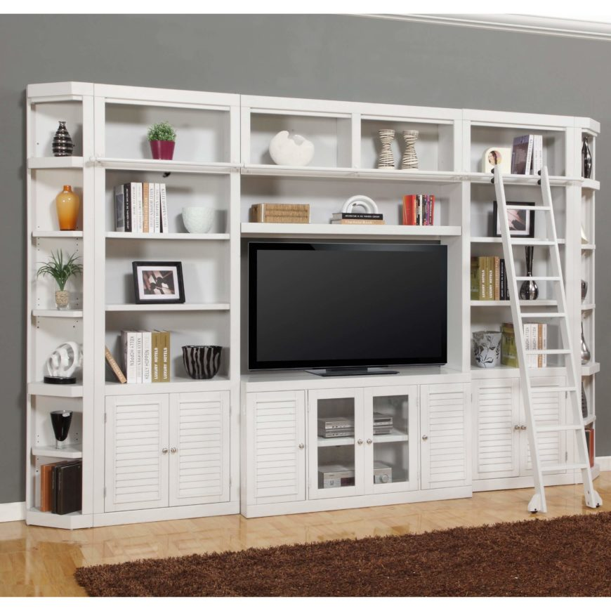 The entertainment center is a venerable furniture piece that can really set a living room off, with its singularly massive presence, artful presentation of the television and associated electronics, and rich, detailed construction. These units are larger than any standard TV stand, and often contain shelving or closed cabinetry for housing art pieces, books, and your media collection.
