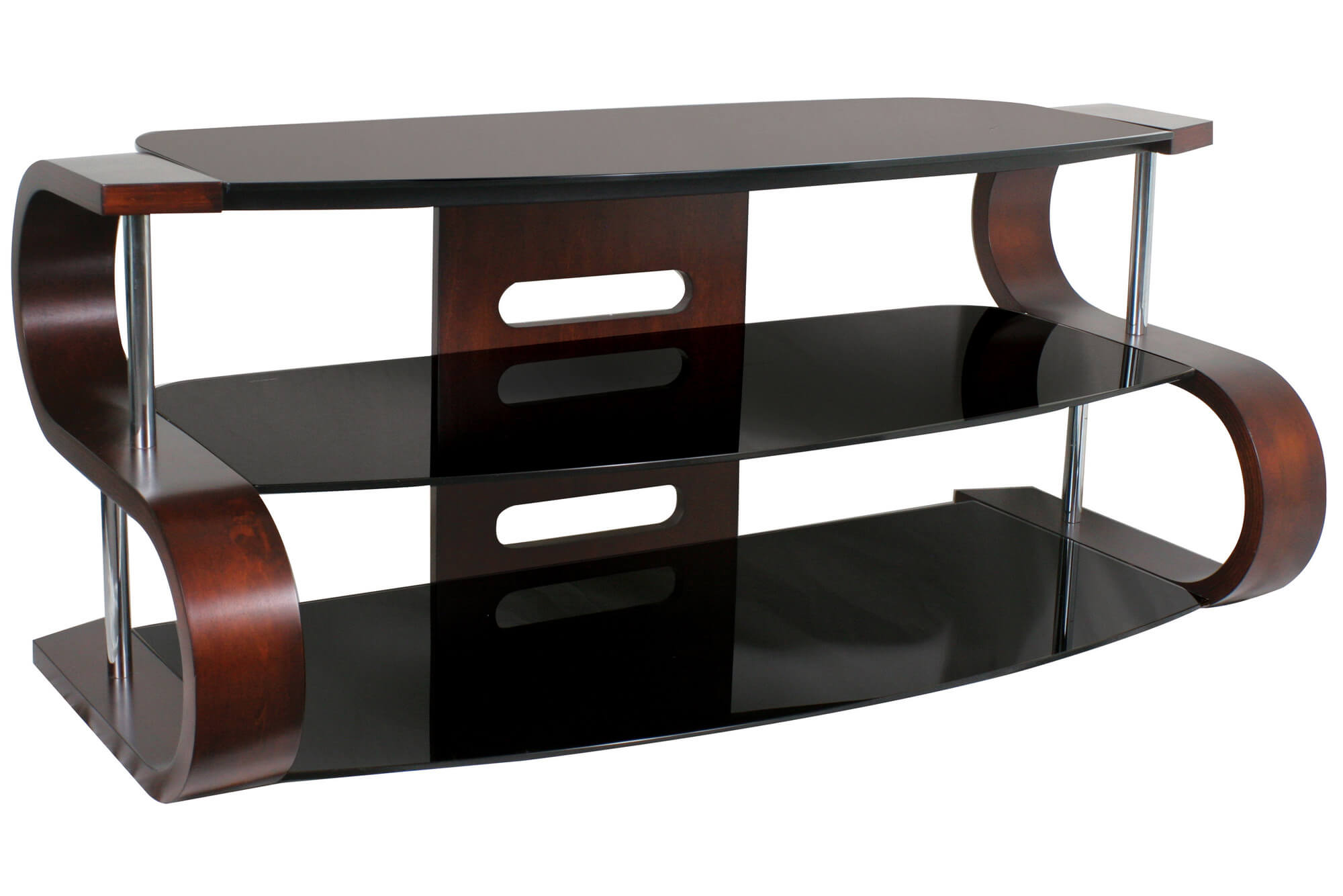 Etonnant Modern TV Stand Design With Shelves.