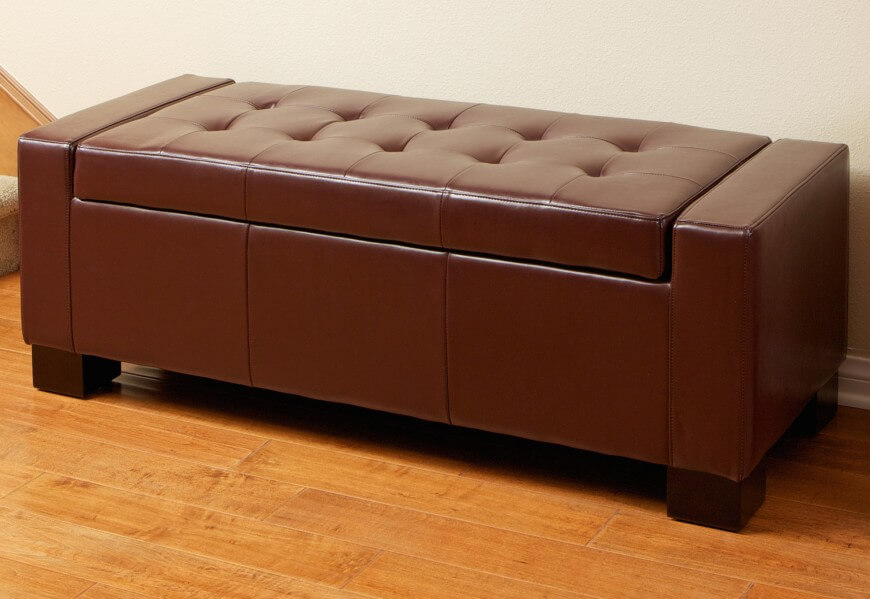 Leather Clad Storage Benches Are Most Often Found In Entryways, Bedrooms,  Or Even Living