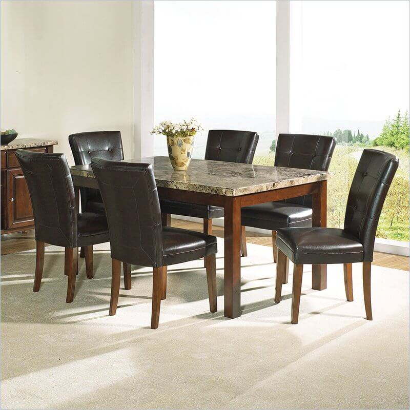29 Types Of Dining Room Tables Extensive Buying Guide : marbletoptable from www.homestratosphere.com size 800 x 800 jpeg 75kB