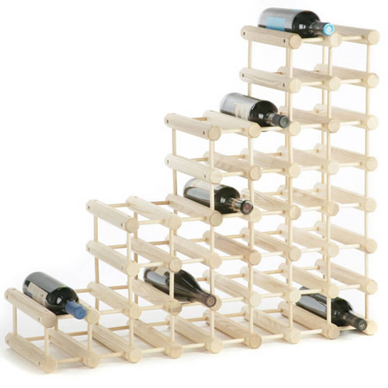 Modular design means that the furniture can be added to, modified, and expanded. These types of wine racks are meant to grow with your collection, with simple add-on materials you can purchase in sets.