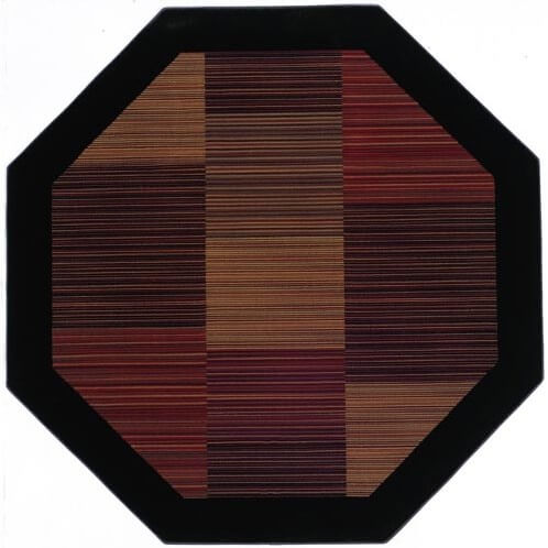 One of the more unique cuts of rug you'll find, the octagonal shape fills a similar role to that of the round rug. With its sharp angles and straight sides, the octagon offers different placement opportunities.