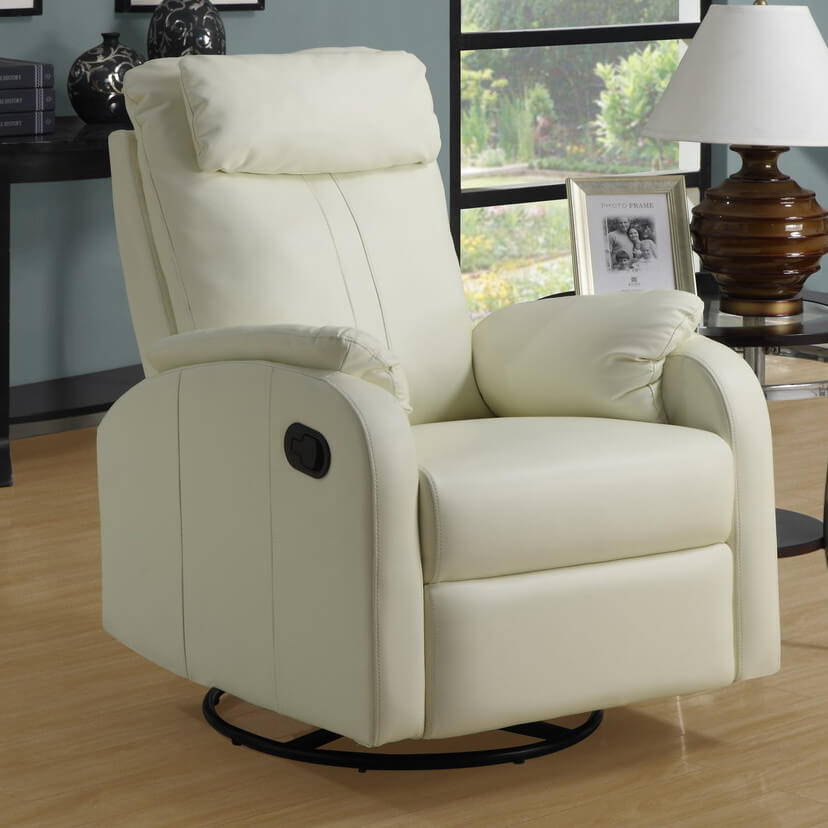 A popular option for recliners is the swivel base construction, allowing the chair to be rotated and aimed in any direction the seater prefers.