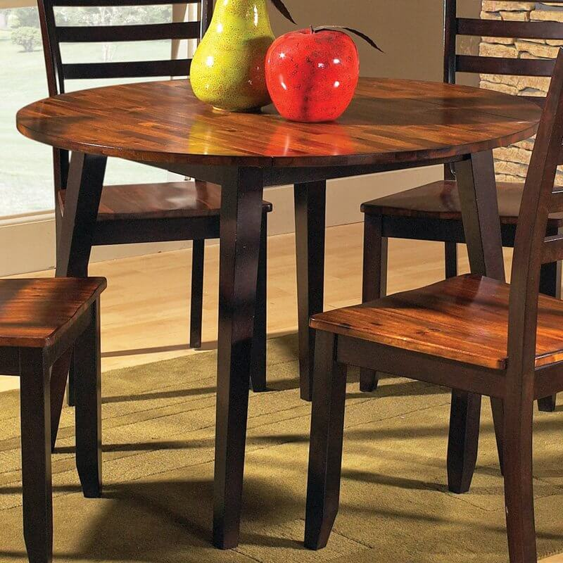 Round Tables Allow For Shifting Seating Options And Often Hold Features Such As Hinged Edges