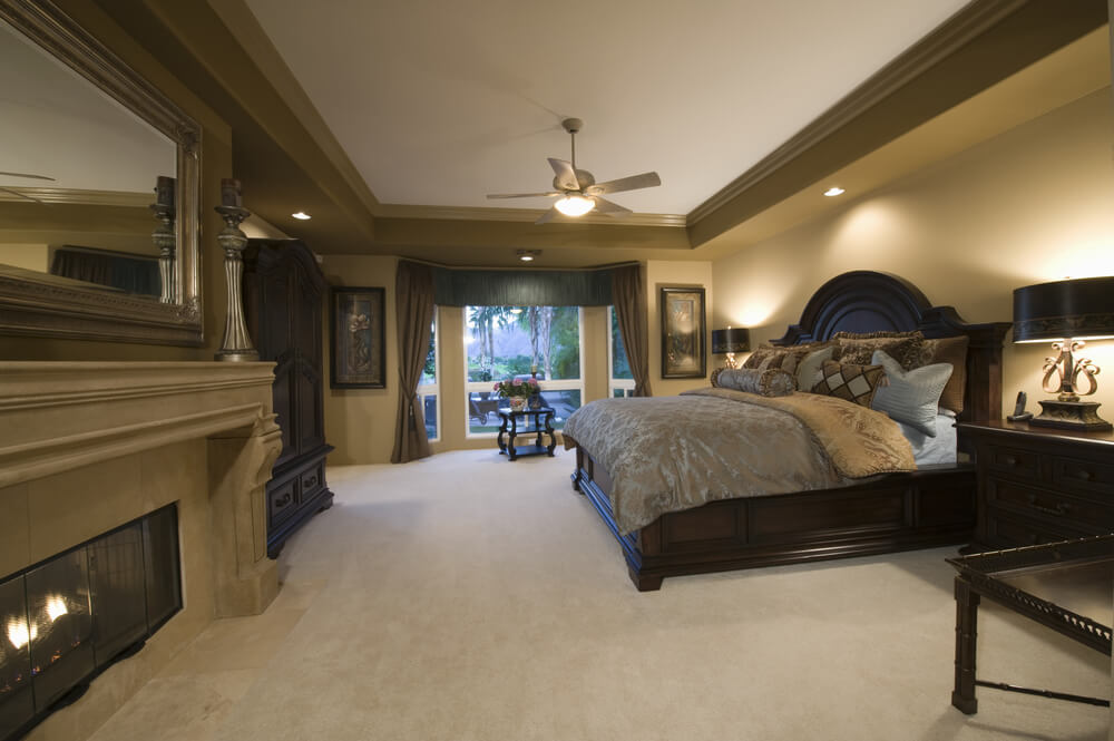 relaxing and fantastically designed master bedrooms with carpet