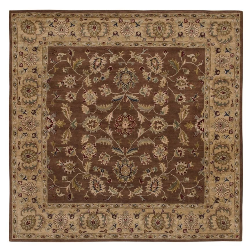 Square rugs, like their rectangular brethren, appear in a wide multitude of styles and patterns. This shape can make its home filling a small room or occupying  any space near furniture or doorways.