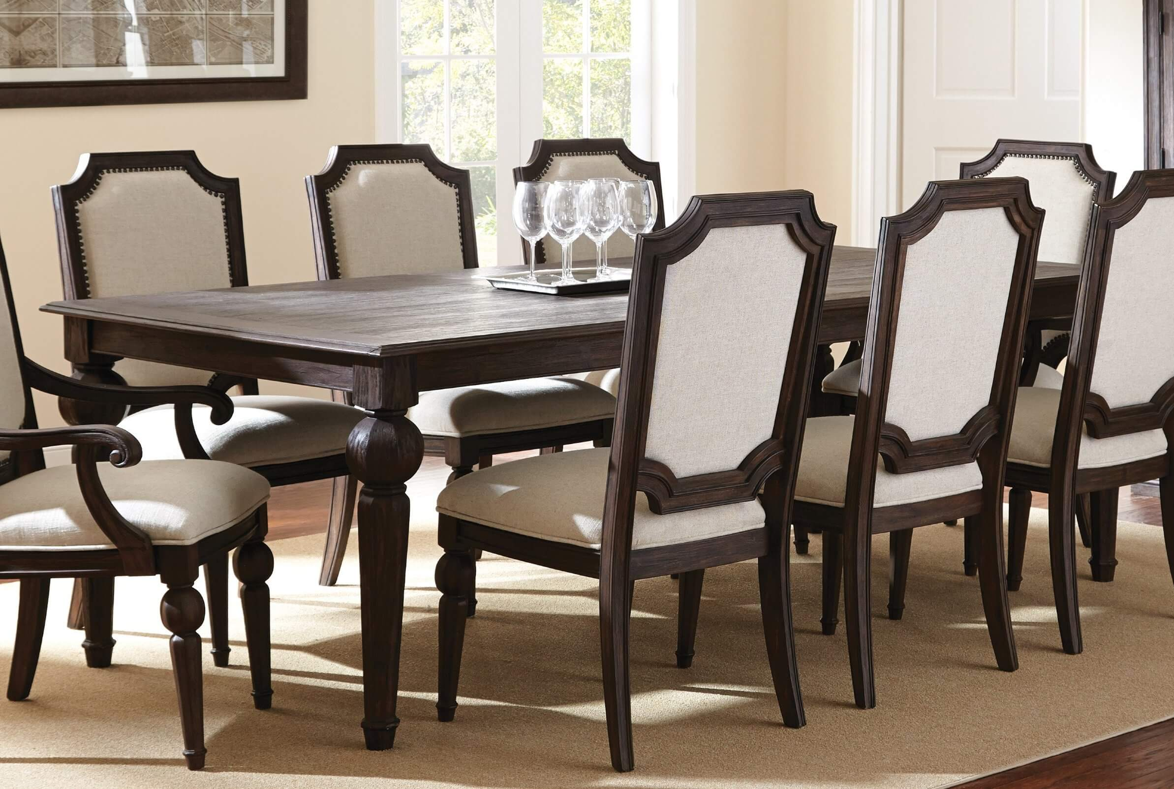 29 types of dining room tables extensive buying guide for Traditional dining table with bench
