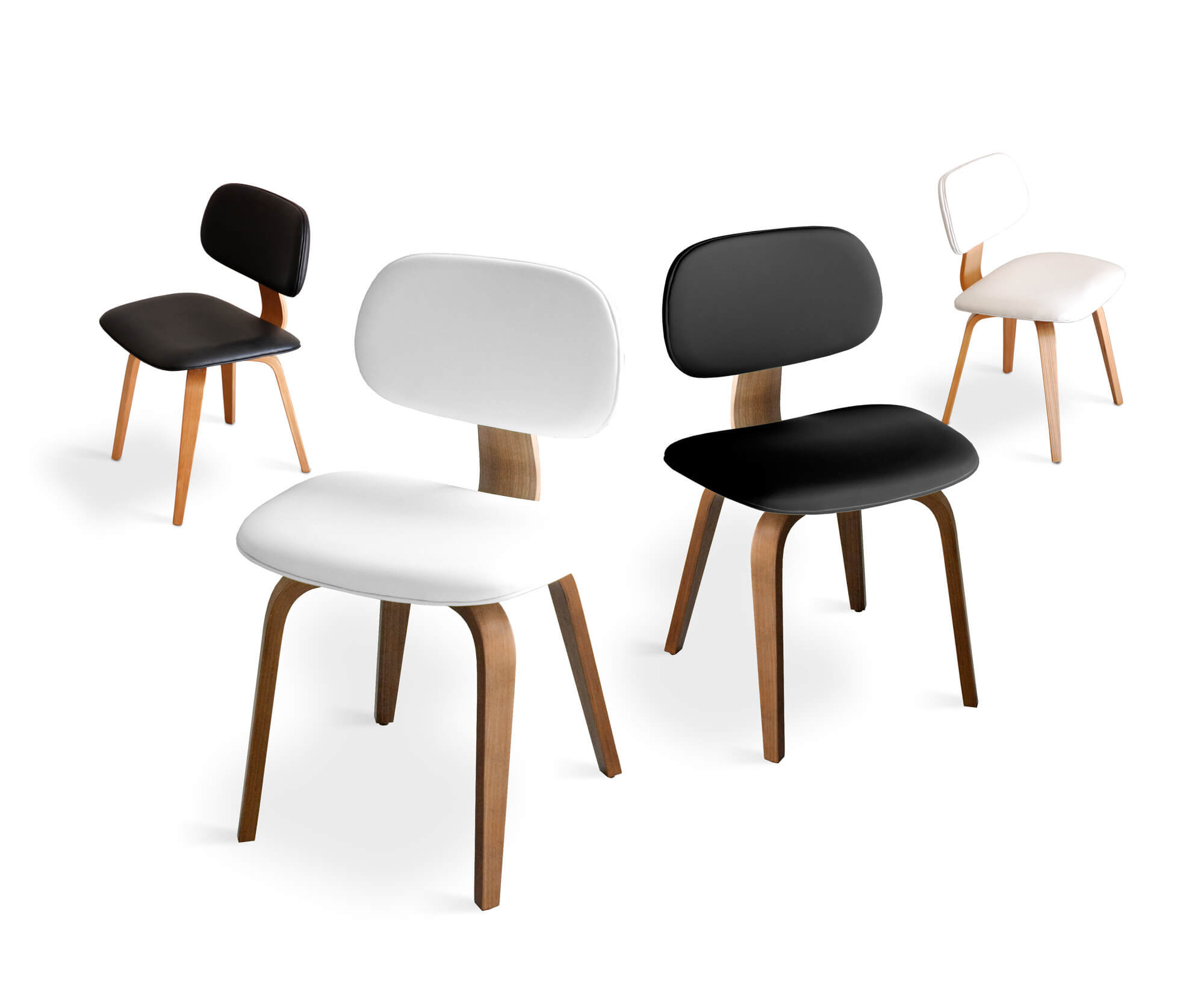 Dining chairs with wood frames are by far the most popular models you'll find when shopping. The most traditional build material is also the most varying, offering a wide range of styles and shapes.