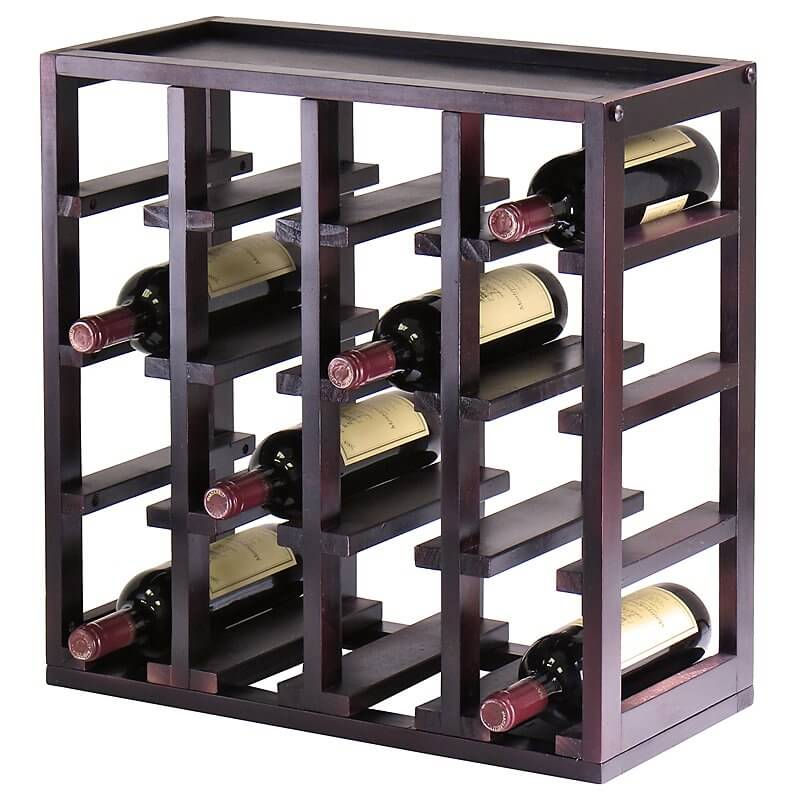 For contrast here is a second wood wine rack. This ex&le is a tabletop  sc 1 st  Home Stratosphere & 22 Wine Rack Ideas for 2017 (Buyers Guide) Aboutintivar.Com