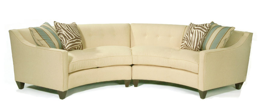 Awesome Another Two Piece Sectional With Button Tufted Backing, This Soft Yellow  Sofa Stands Over .