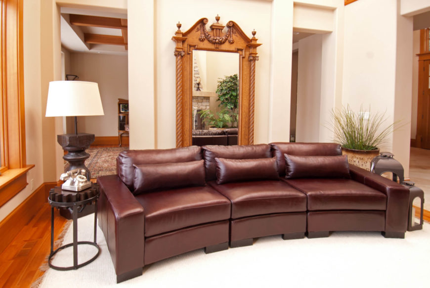 With soft edges on the track arms and back, and plus cushioning to spare, the angular body of this sofa contrasts with its comfortable style. The sections make for plush individual seats, or a lengthy sofa when set together.