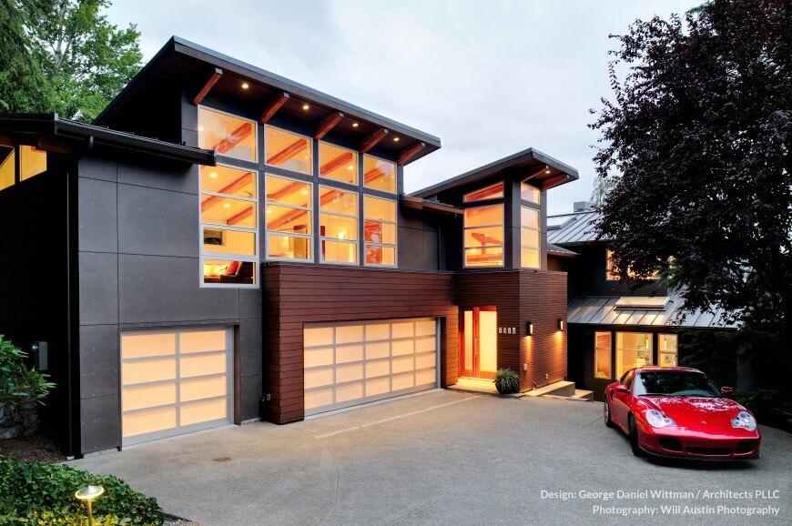 Modern westcoast waterfront home design mercer island - Waterfront home design ideas ...