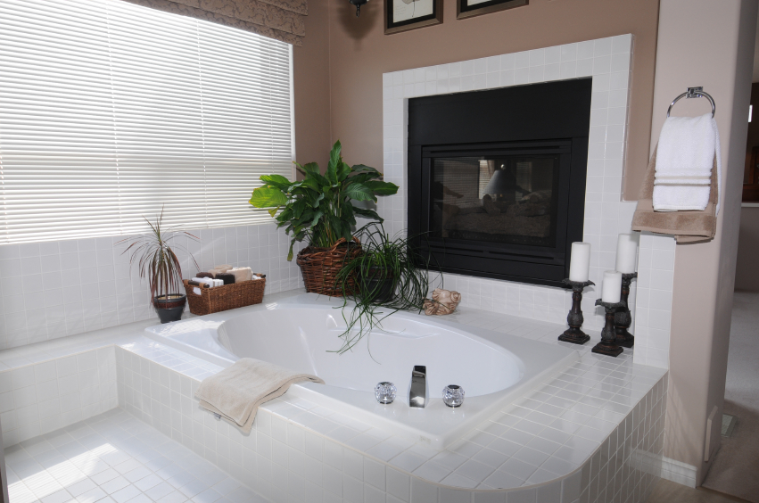 This Bathroom Features A High Contrast Between Pristine White Tile Work And  Soft Mocha Wall Tones Part 88