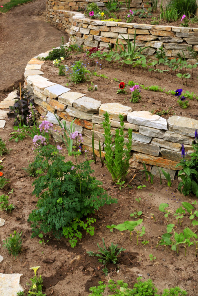 50 Backyard Retaining Wall Ideas and Terraced Gardens (Photos) on Tiered Yard Ideas id=51664
