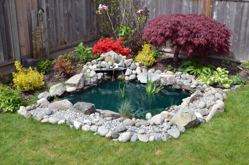 37 backyard pond ideas designs pictures for Small garden with pond design