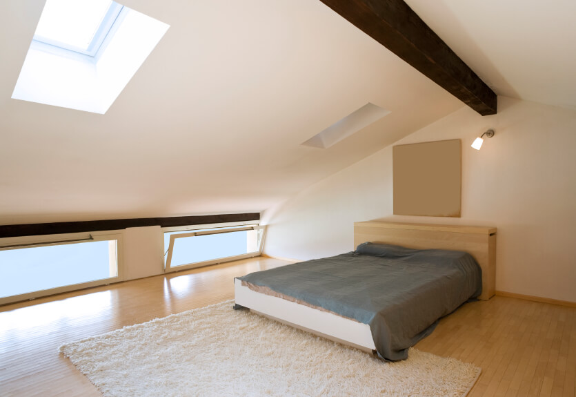 40 Attic Bedroom Ideas Many Designs With Skylights Enchanting Loft Conversion Bedroom Design Ideas Minimalist