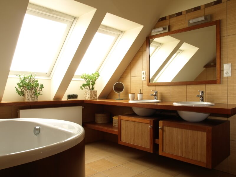 Attic Rooms Designs And Space Ideas - How to turn bathroom into sauna for bathroom decor ideas