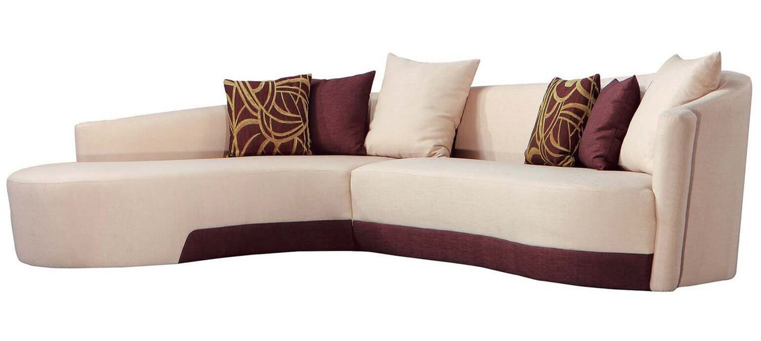 1920x1080 Wallpaper Beige Fabric Sectional Sofa With Throw P ...
