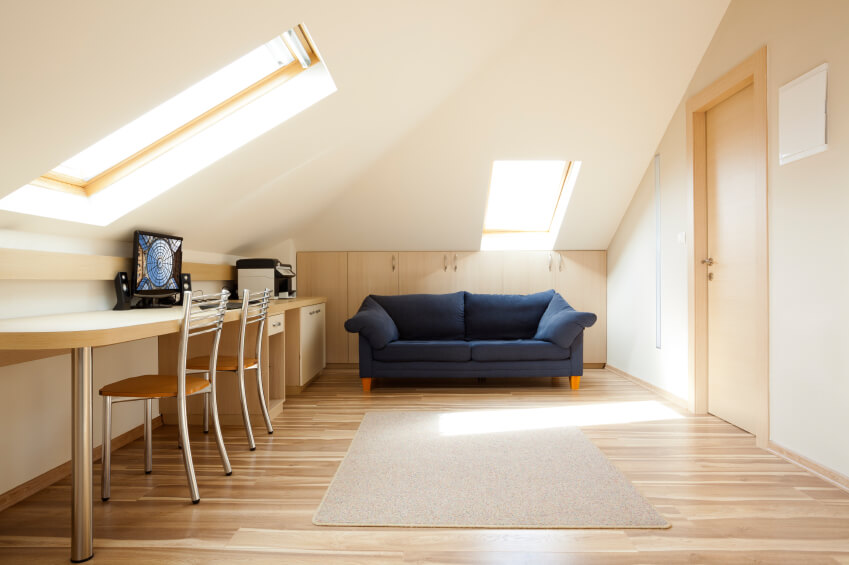 Attic office and sitting area