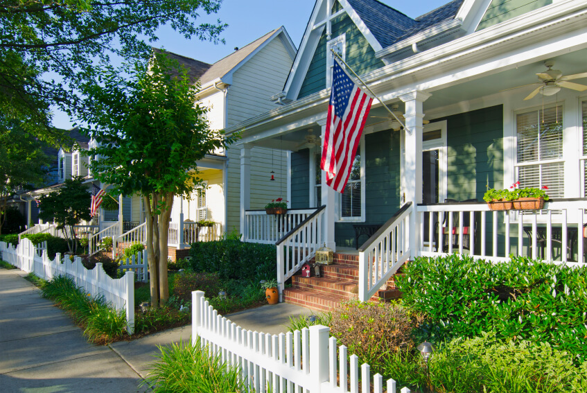 A picket fence without a gate is purely for decoration and curb appeal.