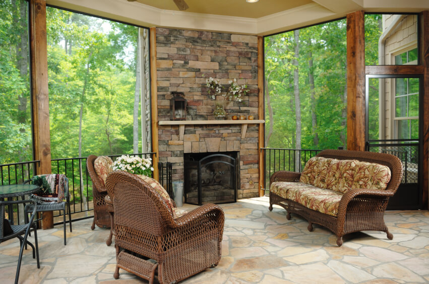this lovely covered patio is also a threeseason room with removable glass the screened ideas b96 patio