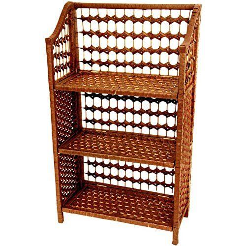 13 woven rattan bookcase