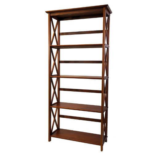 2 montego bookcase walnut