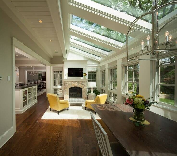 skylight living room 30 naturally lit living rooms with skylights pictures 10713