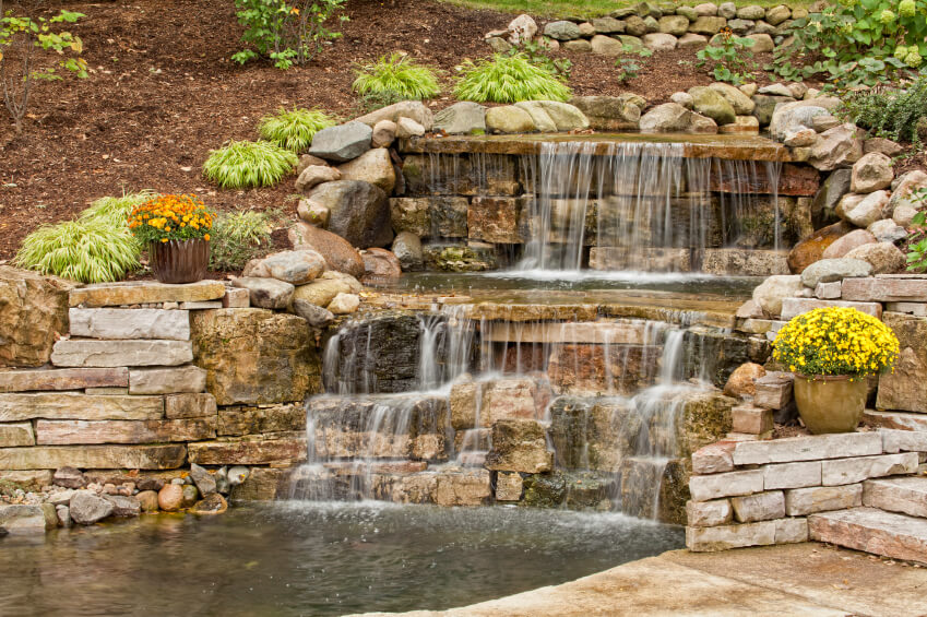 50 Pictures of Backyard Garden Waterfalls (Ideas & Designs) on Rock Garden Waterfall Ideas id=68011