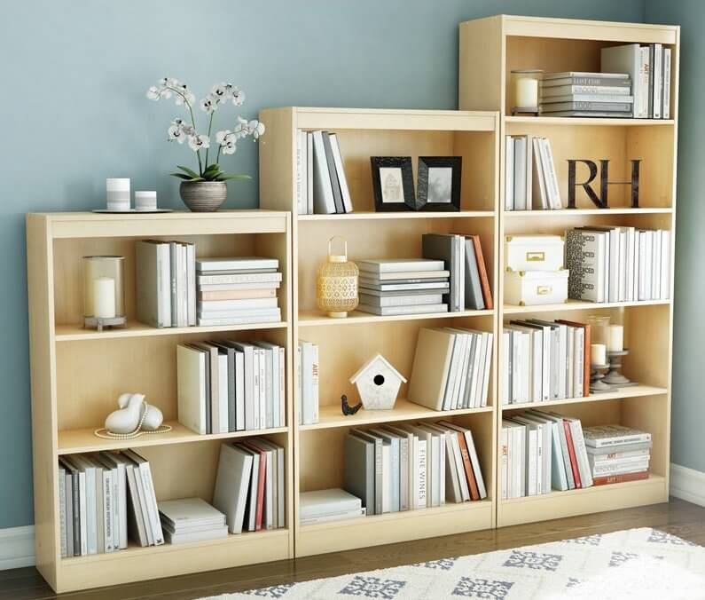 5 5 shelf maple bookcase1