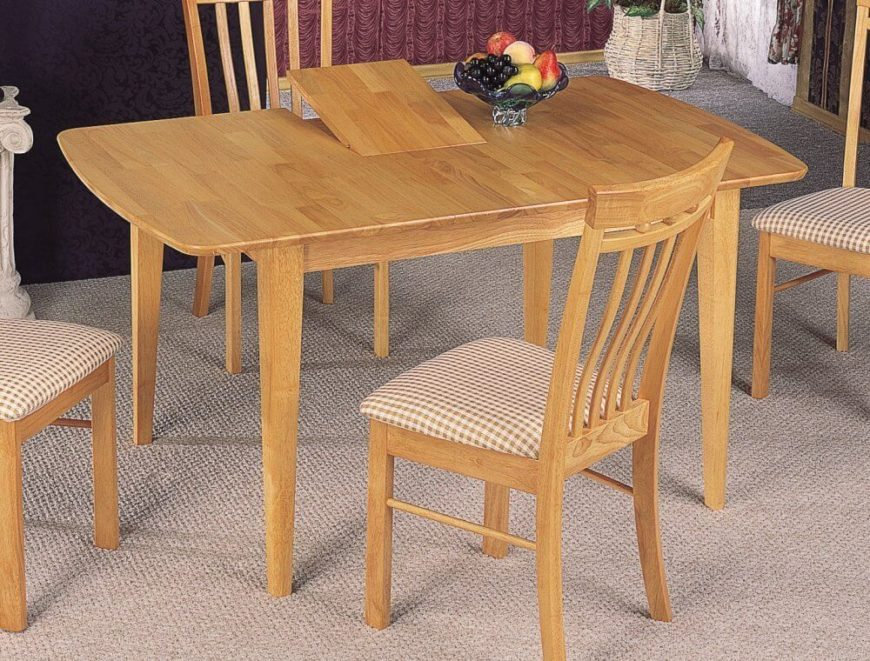 This Natural Finish Table Is Bright And Light With A Simple Design That  Would Fit 20 Wood Rectangle Dining Tables Seats 6 Under 500