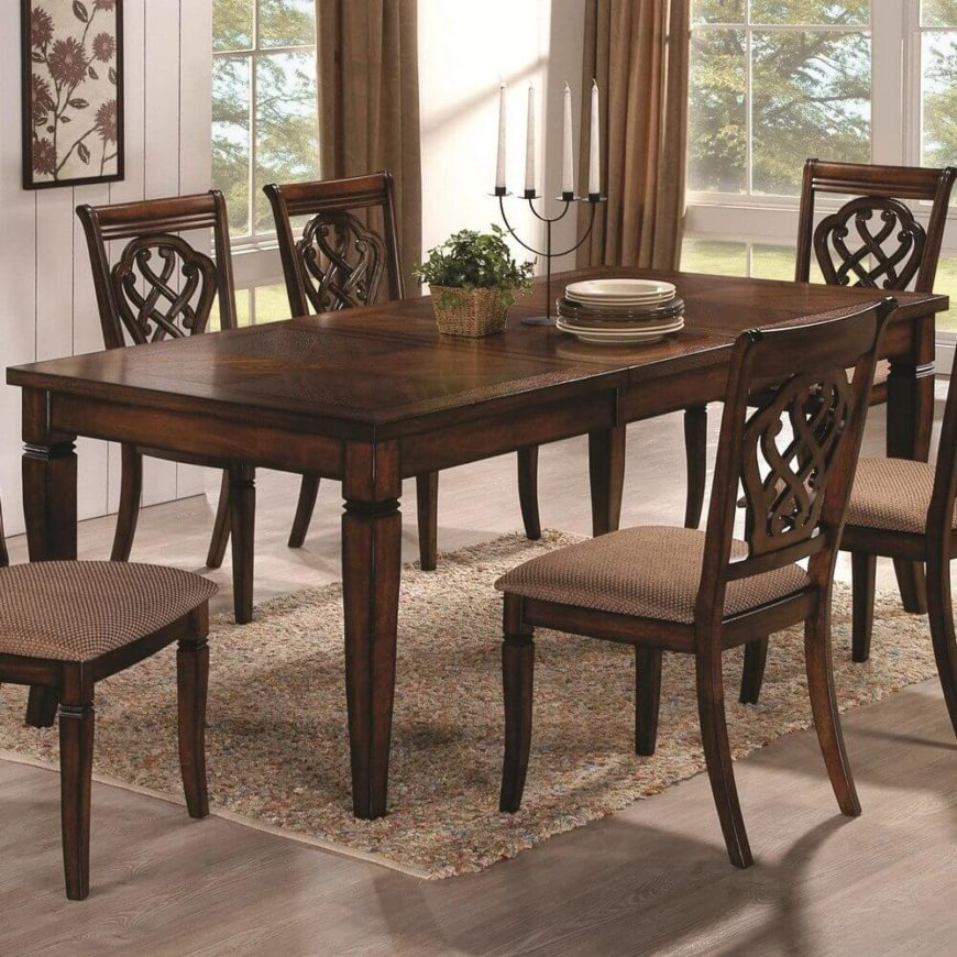 In contrast with the prior entry  this traditionally styled wood table  features carved legs and. 20 Wood Rectangle Dining Tables that Seats 6 Under  500