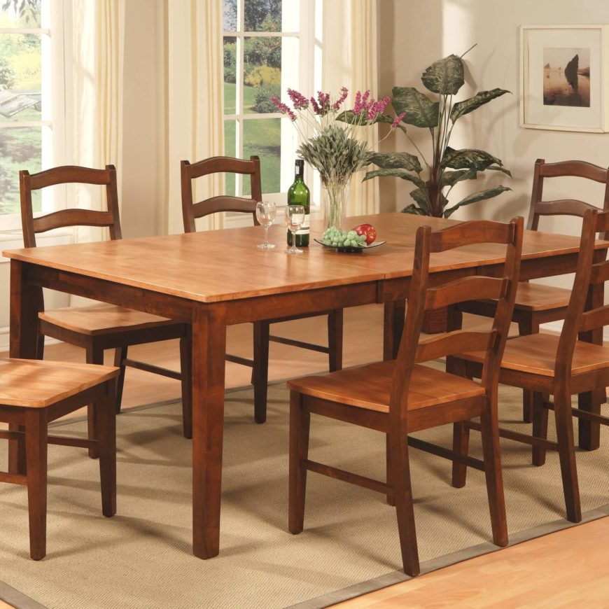 This large dining table comes in two complementary natural wood tones  with  a lighter hued. 20 Wood Rectangle Dining Tables that Seats 6 Under  500