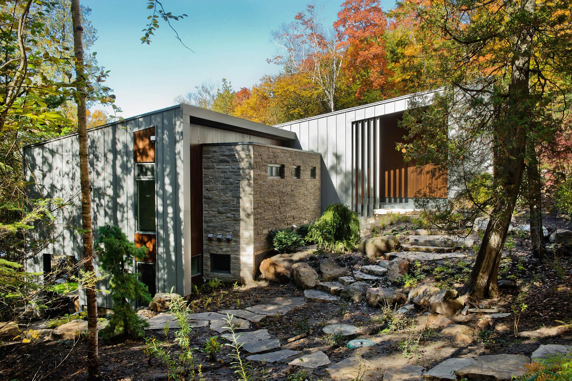 Grand Contemporary Rustic Craftsman Home Design and Floorplan