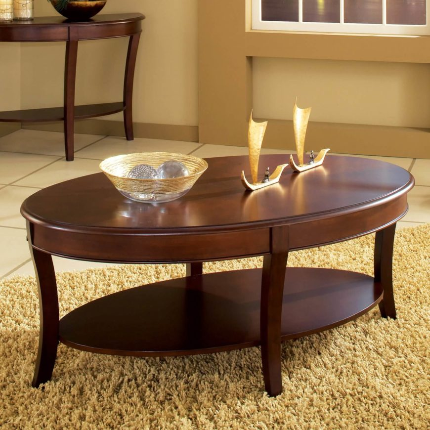 20 top wooden oval coffee tables Wood oval coffee table
