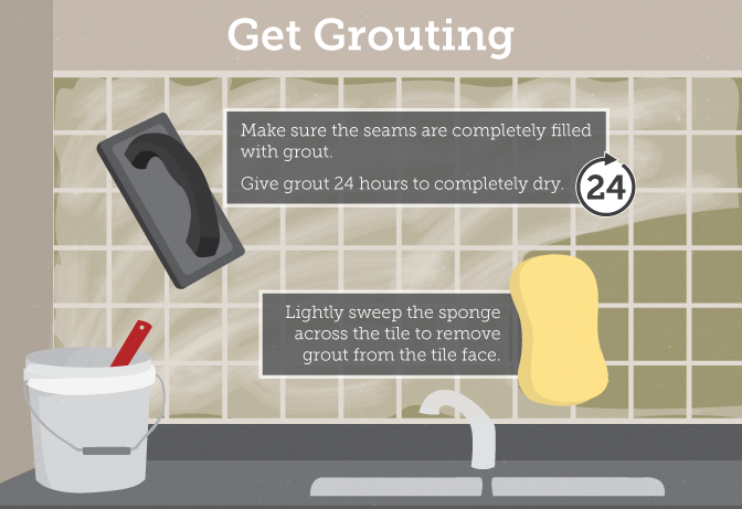 Get Grouting! Tips for applying grout.
