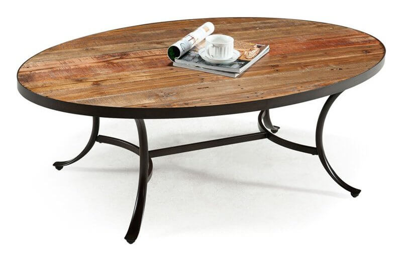 Merveilleux This Table Design Mixes Rustic Look Wood Surface With Dark Metal Framing,  For A