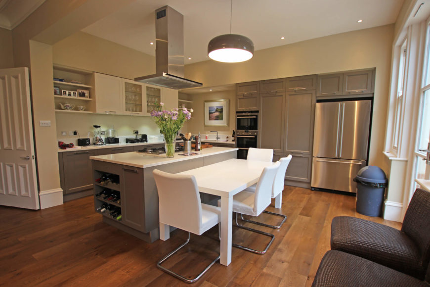 This Rich Expansive Kitchen Centers On The Large Incredibly Useful Island With Built