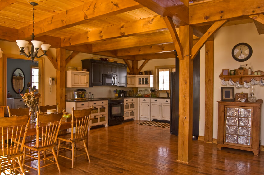 dark wood floor kitchen. This entire kitchen is made of a lovely auburn wood  The dazzling amount woodwork 34 Kitchens with Dark Wood Floors Pictures