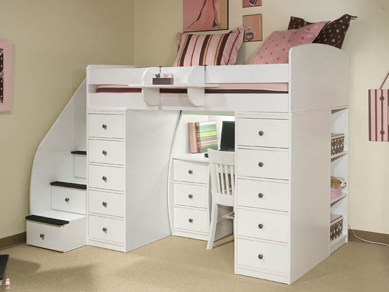Ordinaire Hereu0027s Another White Wood Bed, This Time With An Extraordinary Amount Of  Drawer Storage Flanking