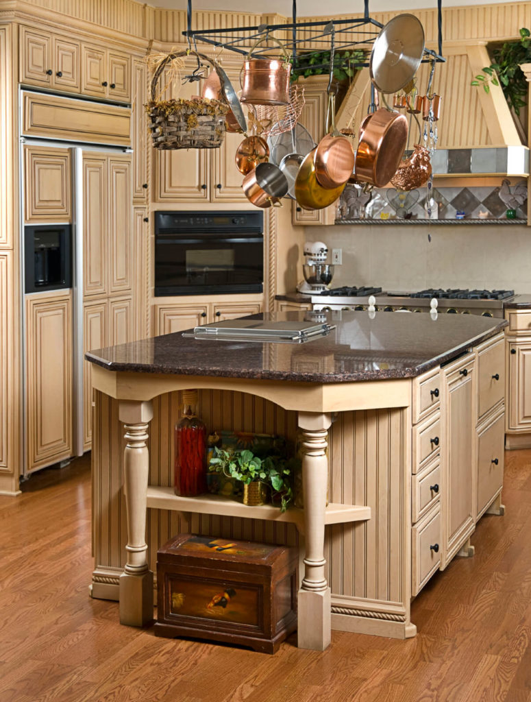 This Beautiful Kitchen Is Reminiscent Of Ancient Architecture The Lovely Floor Complements Color Choices