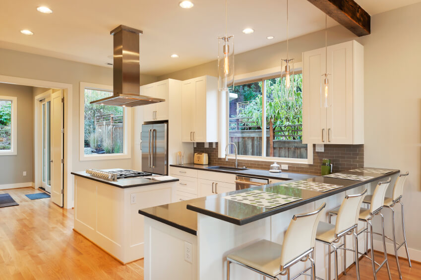 White Kitchen Oak Floor 32 spectacular white kitchens with honey and light wood floors