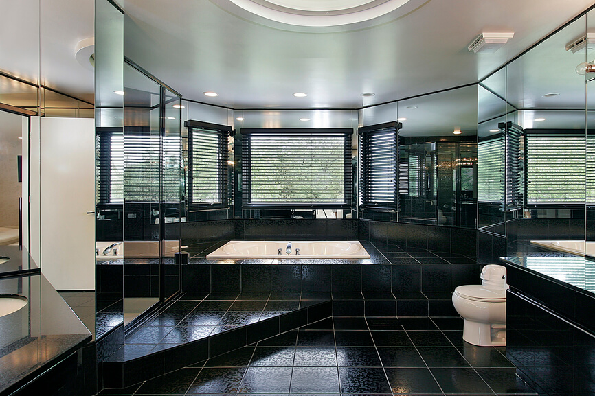 Dark Tile Flooring Adorable 32 Bathrooms With Dark Floors Design Decoration