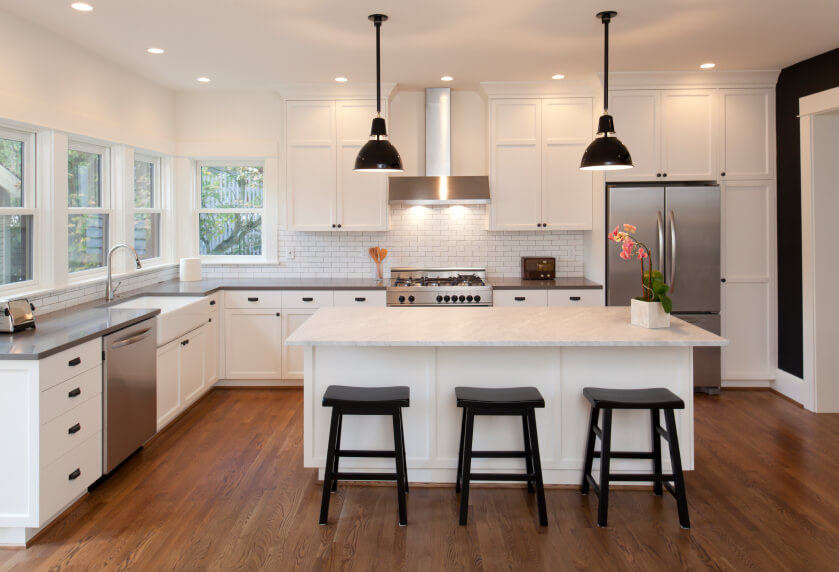 White Kitchen Light Floors 32 spectacular white kitchens with honey and light wood floors