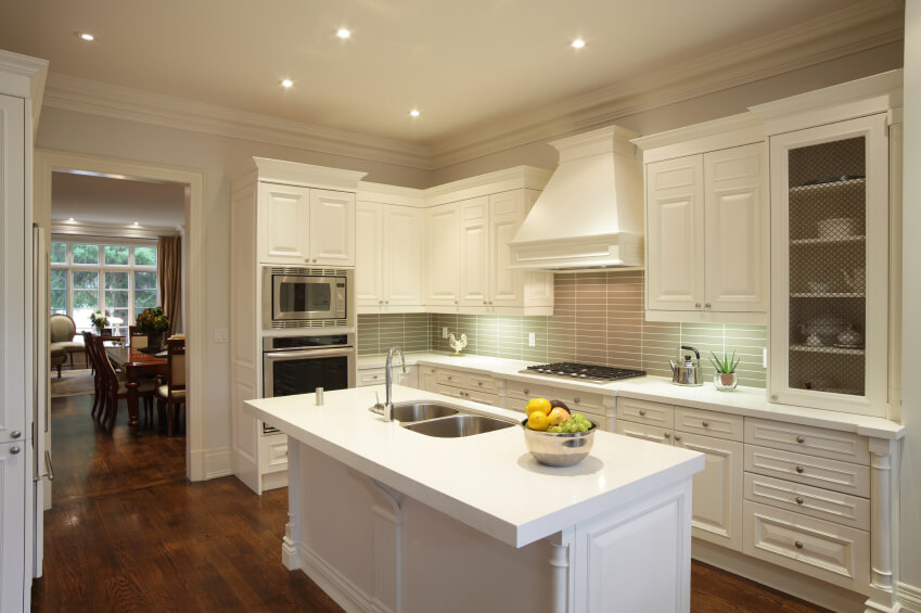 Hereu0027s A Very Similar Kitchen Setup, With A Bold And Modern White Island  And Countertops